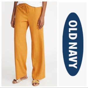 NWT Old Navy Wide Leg Linen Pants